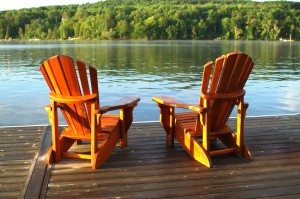 Muskoka Chairs at the cottage