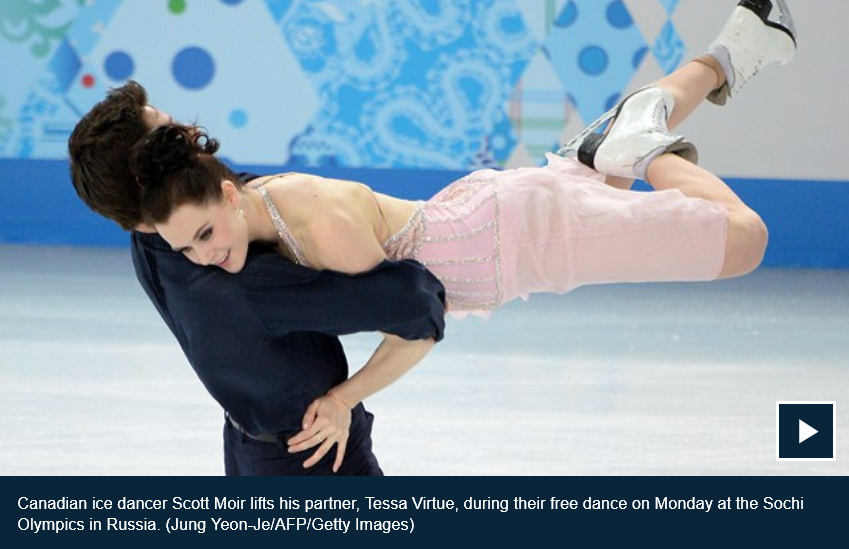 Tessa Virtue and Scott Moir CBC video of their performance